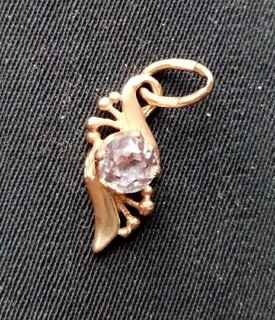 Золотая Подвеска Кулон с Камнем 583