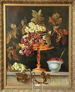 Картина копия художника Франса Снейдерса «Виноград» 84х68
