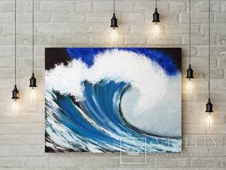 Синяя волна (масло/холст) 60х70 см
