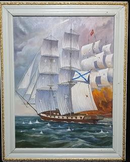 Картина Парусник. О. Голубцов. Размер 60,5 х 81 см