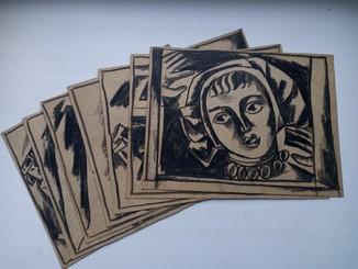 Серія малюнків Івана Остафійчука 1965 р. 7 шт.