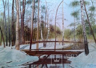Алек Гросс. В весеннем лесу, х., м., 50х70 см