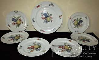 Сервиз блюдо тарелки фарфор клеймо Kaiser porcelain Германия