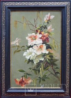 "А. Снежевский ""Ветка цветов"" 1942 г."