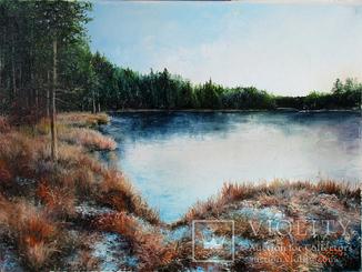 """Картина """"Лісове озеро"""". Холст, масло"""