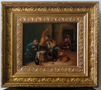 Картина маслом, Фламандская античная живопись, около 1800 года. Копия.