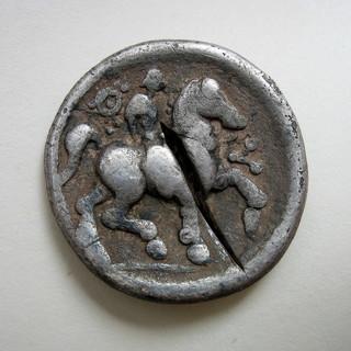 Гето-дакийское подражание тетрадрахме Филиппа II, вес 12,24 г.
