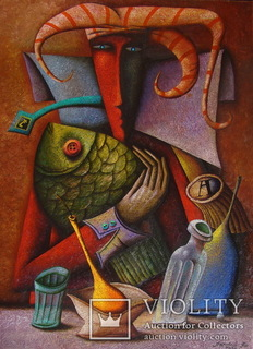 "Андрей Лозовой, картина ""Четверг"", 50х70, холст, масло, 2019"