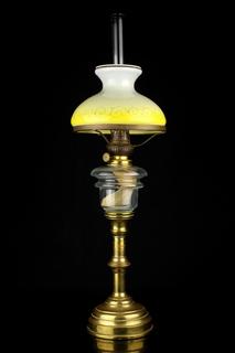 Французская керосиновая лампа J.Maisonneuve. Горелка Kosmos Brenner Высота 660 мм (0735)