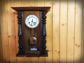 Настенные часы Gustav Becker рабочие, обслуженные, с боем