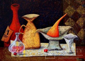 "Andrej Losovoj Картина ""Две вишни"", холст, масло, 50х70 см"