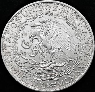 2 песо 1921 року, Мексика, срібло