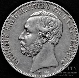 Талер 1866 року, Ольденбург, Ніколаус Фрідріх, срібло (не викуп)