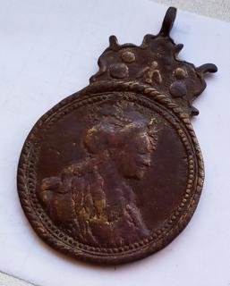 Дукач - подражание медали в память о коронации Екатерины 2 ''За спасение веры и отечества''.