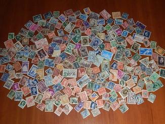 Старинные почтовые марки разных стран мира 220 шт.