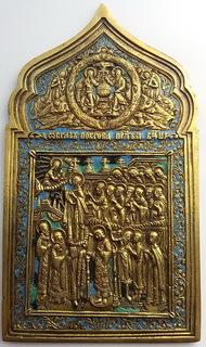 Икона Покрова Пресвятой Богородицы, 19 век, эмали