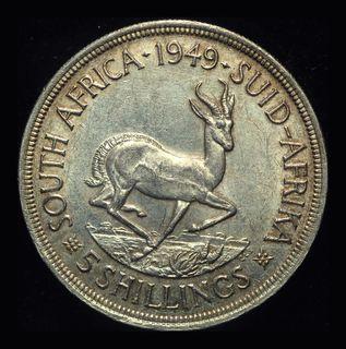 Британская Южная Африка крона 1949 Unc серебро 28,28 грамм 800 пробы