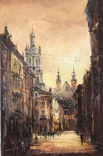 Картина Львів ранок
