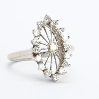 """Винтажное золотое кольцо """"маркиз"""" с бриллиантами"""