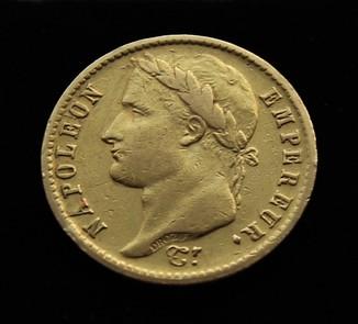 20 франков 1814 год c малым тражем