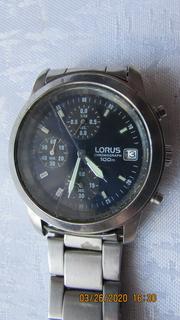 Часы Lorus Chronograph Japan 100 m хронограф нержавейка