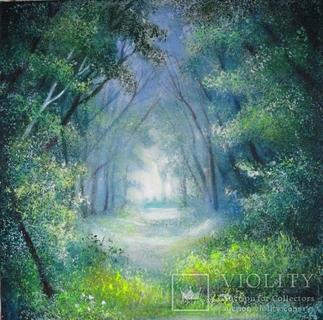 Весняний ліс, 40 х 40 см