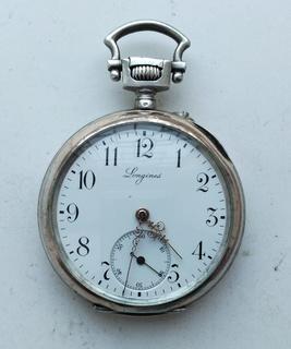 Часы карманные в серебряном корпусе Longines