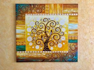 Картина акрилом «Дерево влюбленных» 90х95