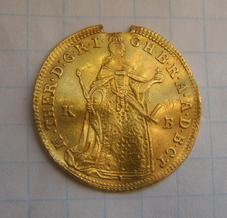 Дукат 1768 р Марія-Терезія. Кремниця