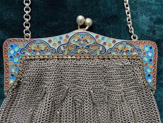 Серебро 84' Дамская театральная сумочка-кольчужка