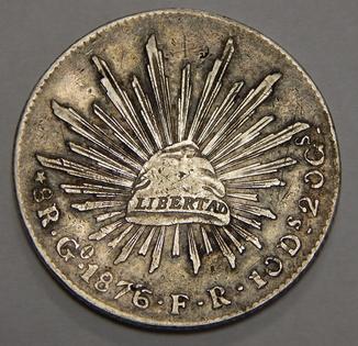 8 реалов, 1876 г Мексика