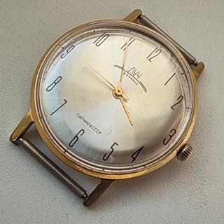 Часы Луч 23камня.плоские.позолота Au10