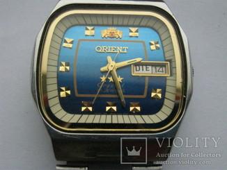 Часы ориент япония механика автоподзавод на ходу голубой циферблат