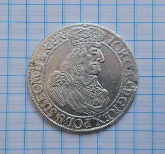 Гданьский орт Яна ІІ Казимира 1661 г.