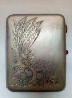 Портсигар.серебро.875.ссср