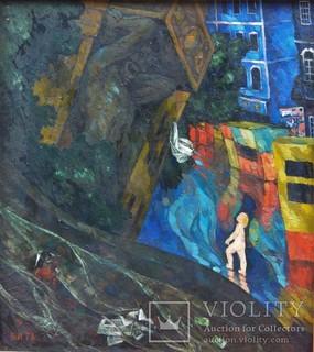 "Картина ""Летний дождь"" Худ. Иванов Владимир Александрович 1978 год."