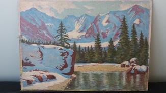"""Картина """"Горное озеро"""",Вялый В.П."""