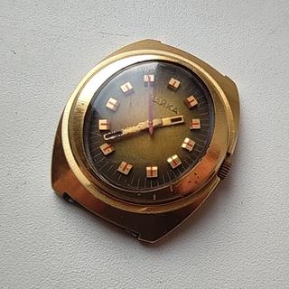 Часы Чайка позолота Au10