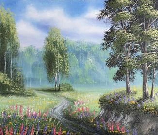 Картина, Благоухание лета, 35х30 см. Живопись на холсте