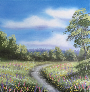 Картина, Аромат весеннего дня, 30х30 см. Живопись на холсте