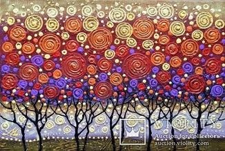 Картина акрилом «Деревья» 40х60