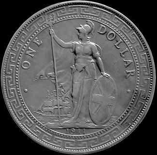 Торговий долар 1911 року, Британська імперія для Індокитаю, срібло
