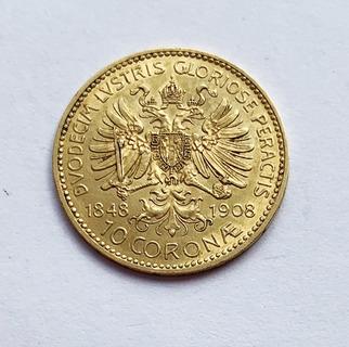 10 крон 1848(1908). 60 лет правления Франца Иосифа