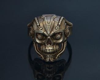 Перстень техно-череп