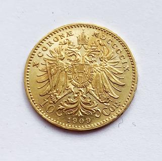 10 крон 1909 года. Австро-Венгрия.