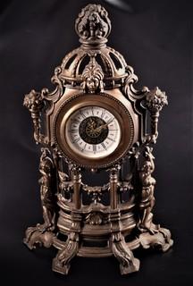 Интерьерные настольные каминные часы, механика, Германия
