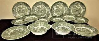 Сервиз тарелки блюда салатники Королевской Тюдоровской посуды Royal Tudor Ware Англия