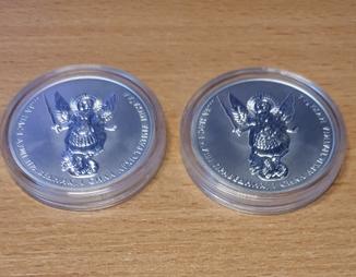 Архистратиг Михаил 1 гривна Серебро 2 монеты одним лотом