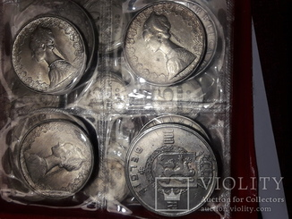 Монеты мира из серебра,