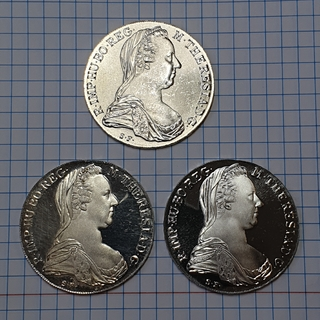 Талер 1780 МАРІЯ ТЕРЕЗА Рестрайк 3 шт